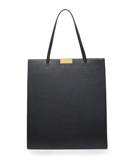 Beckett Faux-Napa Tote Bag, Black