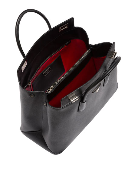 replica hermes handbags - prada saffiano cuir leather tote