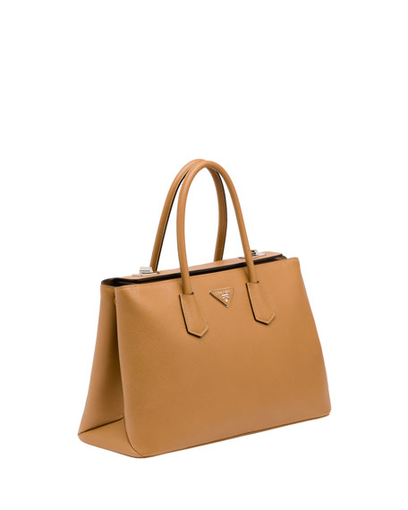 f2d575040cce Prada Saffiano Cuir Twin Bag, Camel (Caramello)