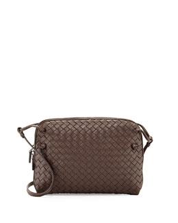 Bottega Veneta Veneta Small Messenger Bag, Dark Brown