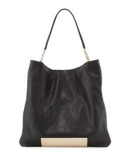 Jimmy Choo Charlie Leather Tote Bag, Black