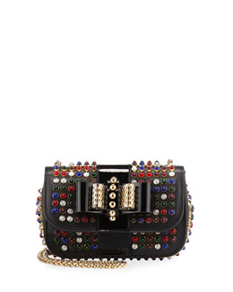 Christian Louboutin Sweety Charity Studded Crossbody Bag, Black/Multi