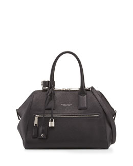Marc Jacobs Incognito Medium Leather Satchel Bag, Black