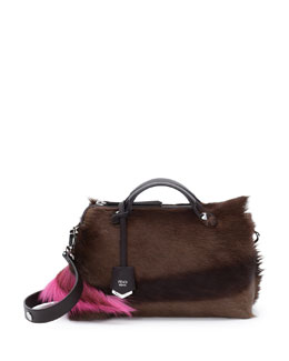 Fendi All The Way Small Fur Satchel Bag