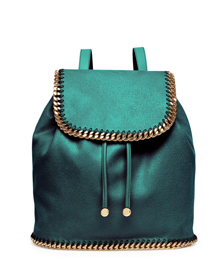 Falabella Drawstring Backpack, Forest Green