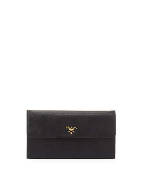 prada new wallet collection - Prada Saffiano Metal Oro Travel Wallet, White (Talco)