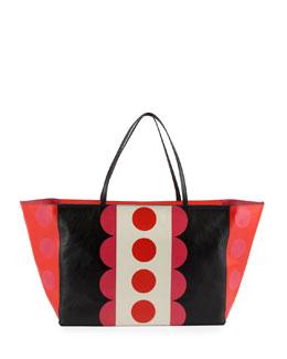 Valentino Carmen Medium Polka-Dot Tote Bag