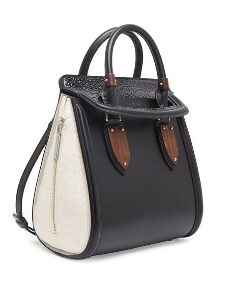 Heroine Small Satchel Bag, Black/White