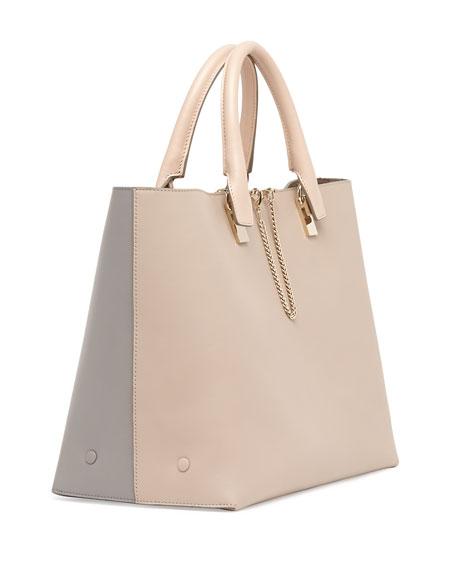 Chloe Baylee Medium Tote Bag, Gray/Beige