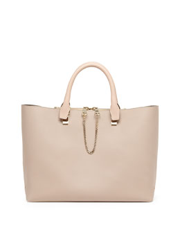 Chloe Baylee Medium Tote Bag, Gray/Beige