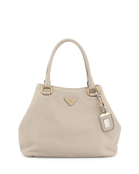 ff3ca12d3908 Prada Vitello Daino Satchel Bag with Strap