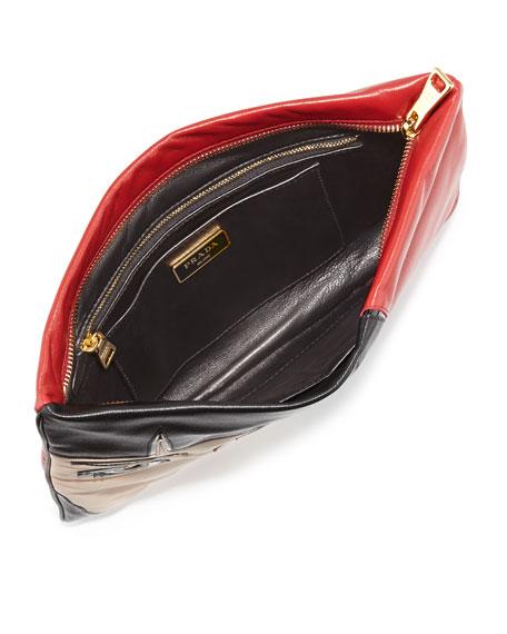 Napa Zip Girl Clutch Bag, Red (Fuoco)