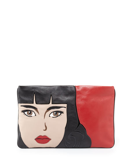 Napa Zip Girl Clutch Bag, Red (Fuoco)
