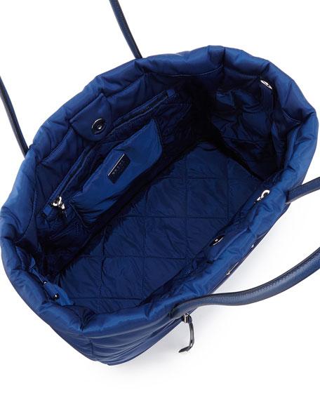 Prada Tessuto Bomber Tote Bag, Blue (Bluette)