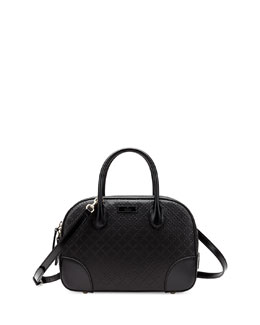 Gucci Bright Diamante Small Leather Bag, Black