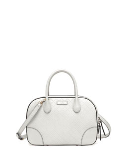 Gucci Bright Diamante Small Leather Bag, White