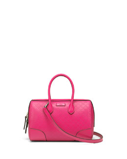 Gucci Bright Diamante Small Boston Bag, Fuchsia