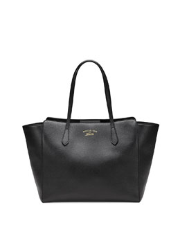 Gucci Gucci Swing Medium Tote Bag, Black