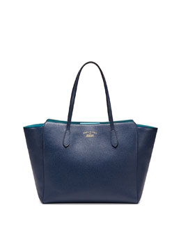 Gucci Medium Swing Tote Bag, Navy