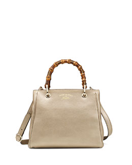 Gucci Bamboo Small Shopper Tote Bag, Gold