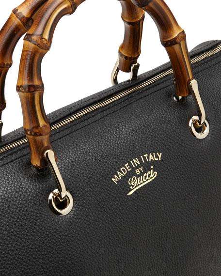 Gucci Bamboo Shopper Medium Boston Bag, Black 49ed556be98