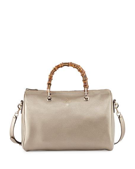 Gucci Bamboo Shopper Medium Boston Bag, Golden 1e88c471be6