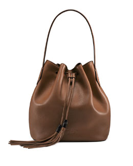Gucci Lady Tassel Medium Bucket Bag, Brown