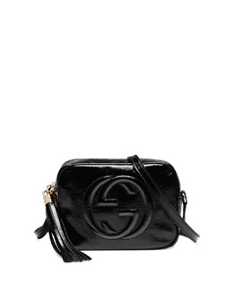 Gucci Soho Patent Leather Disco Bag, Black