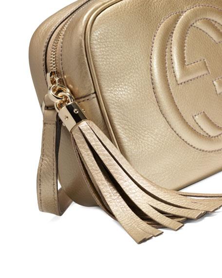0bd4a54faa08 Gucci Soho Metallic Leather Disco Bag, Golden
