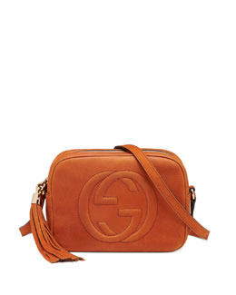 Gucci Soho Nubuck Leather Disco Bag, Orange