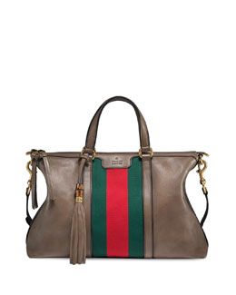 Gucci Rania Leather Tote Bag