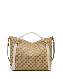 Gucci Miss GG Medium Canvas Tote Bag, Beige