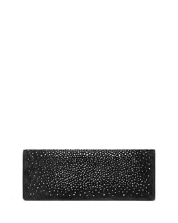 Gucci Broadway Suede Crystal Clutch Bag, Black