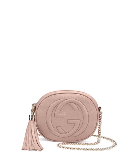 e44cab2a6 Gucci Soho Leather Mini Chain Bag, Neutral