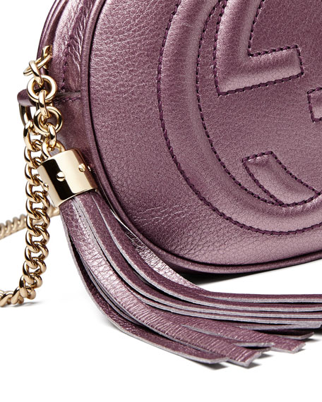a00744f80925 Gucci Soho Metallic Leather Mini Chain Bag, Pink