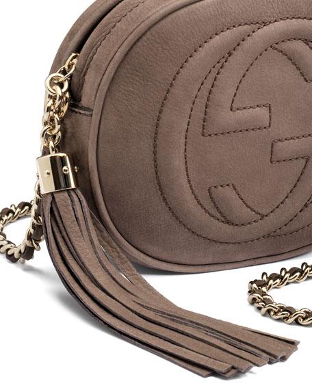 7eb05b8ecc3a Gucci Soho Nubuck Leather Mini Chain Bag, Gray