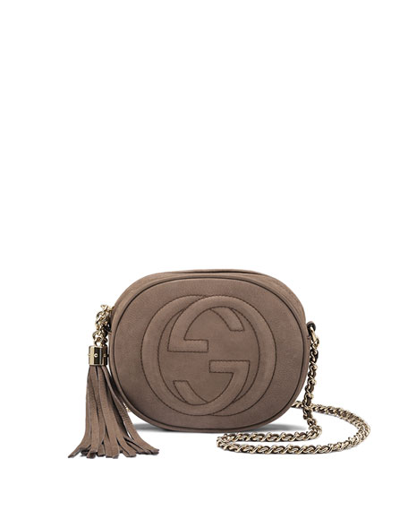 98ba9953ea27 Gucci Soho Nubuck Leather Mini Chain Bag