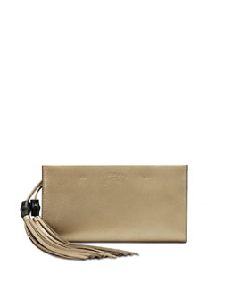 Gucci Broadway Suede Clutch Bag, Gold