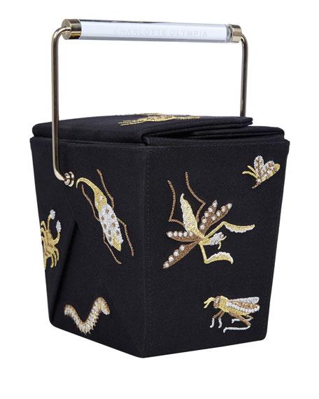 Take Me Away Box Clutch Bag, Black