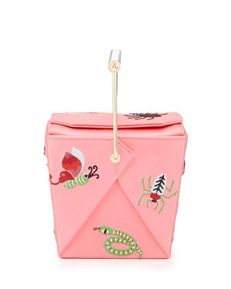 Take Me Away Box Clutch Bag, Pink