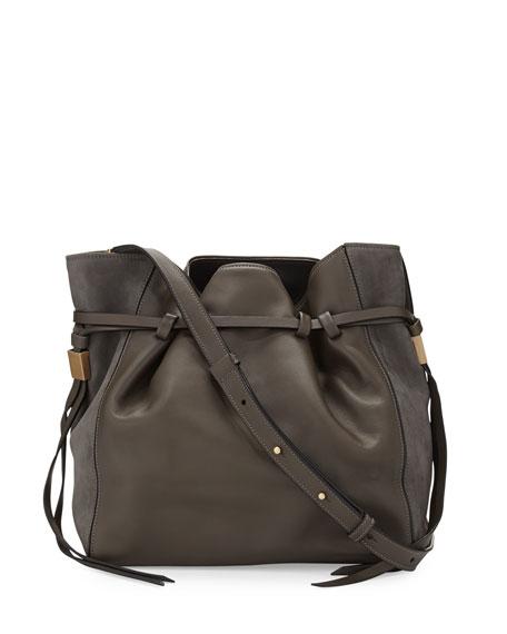 Lazar Leather Bucket Bag, Elephant