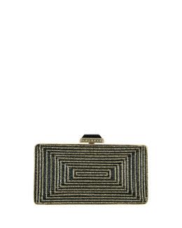 Crystal Rectangle Clutch Bag, Palladium Multi