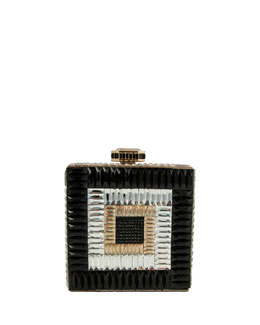 Judith Leiber Couture Cube Crystal Clutch Bag, Rhine Multi