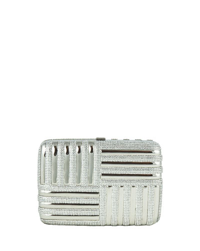 Striped Rectangle Clutch Bag, Rhine Multi