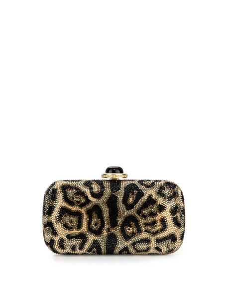 New Soap Dish Crystal Clutch Bag, Champagne/Multi