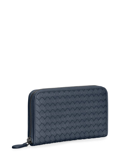 Continental Zip-Around Wallet, Navy