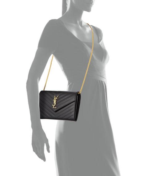 Monogram Matelasse Shoulder Bag, Black