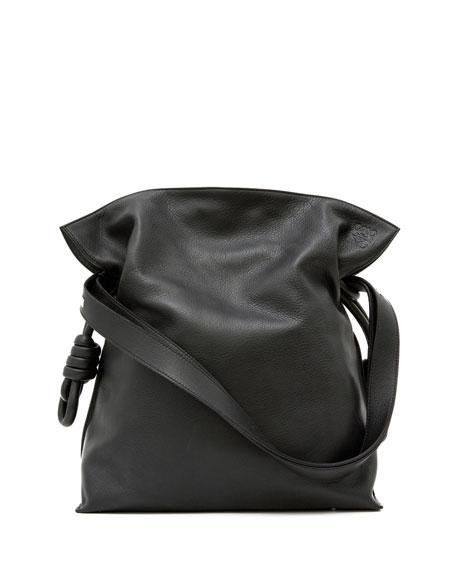 Loewe Flamenco Knot Bucket Bag, Black