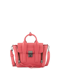 Pashli Mini Satchel Bag, Raspberry