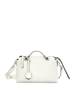 Fendi By The Way Small Croc Satchel, White/Black